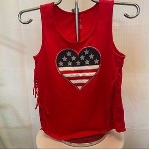 Other - Forth of July heart tank top